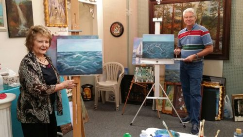 mary lou meyer - instructor paint with a splash